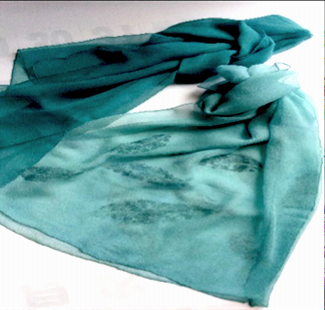 藍生葉染めストール
